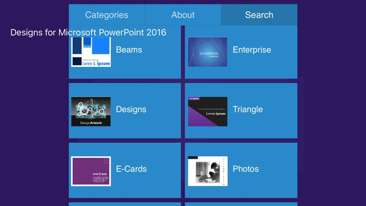 Designs for Microsoft PowerPoint 2016
