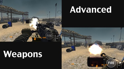 Real Trigger FPS Weapons Shooting Test : Desert Range Mission Game screenshot two