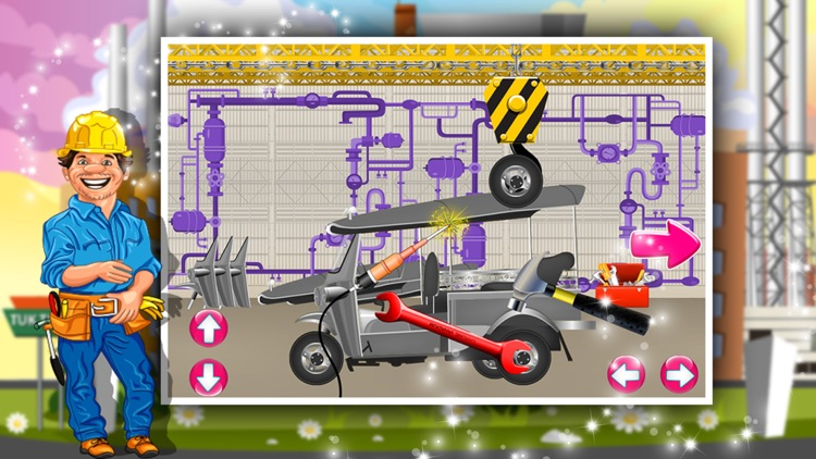 Tuk tuk Factory – Auto rickshaw maker & builder game for kids screenshot-4