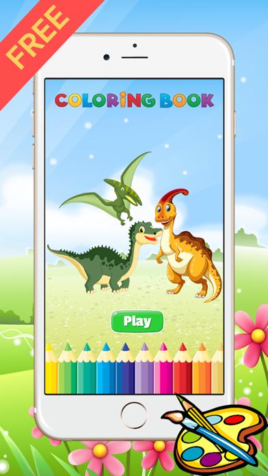 Dinosaur Dragon Coloring Book - Drawing for kid free game,