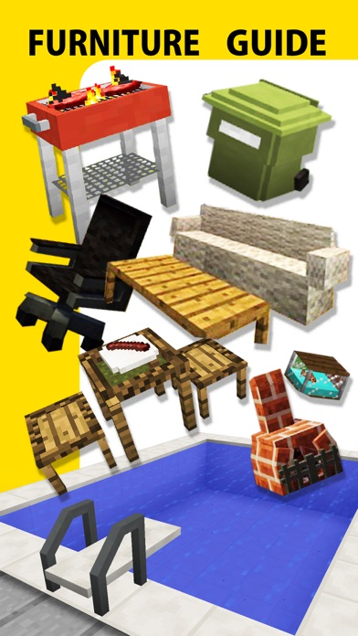 Screenshots of Furniture Mod, Guide, Video - Game Pocket Wiki for Minecraft PE & PC Edition for iPhone