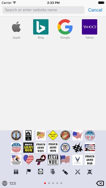 Military Emoji Keyboard