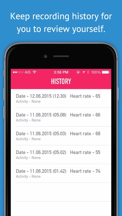 My Heart Rate Monitor & Pulse Rate - Activity Log for Cardiograph, Pulso, and Health Monitor screenshot-3