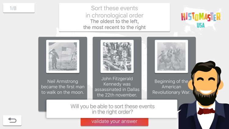 HistoMaster US: Learning History of USA is Fun with this app - Game to play with United States of America Quiz screenshot-3