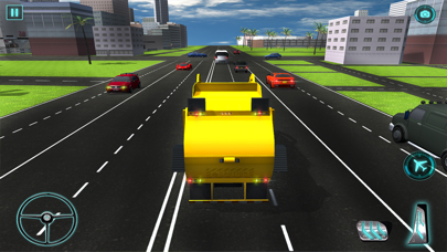 Real Garbage Truck Flying 3D Simulator – Driving Trash Trucker in City screenshot one