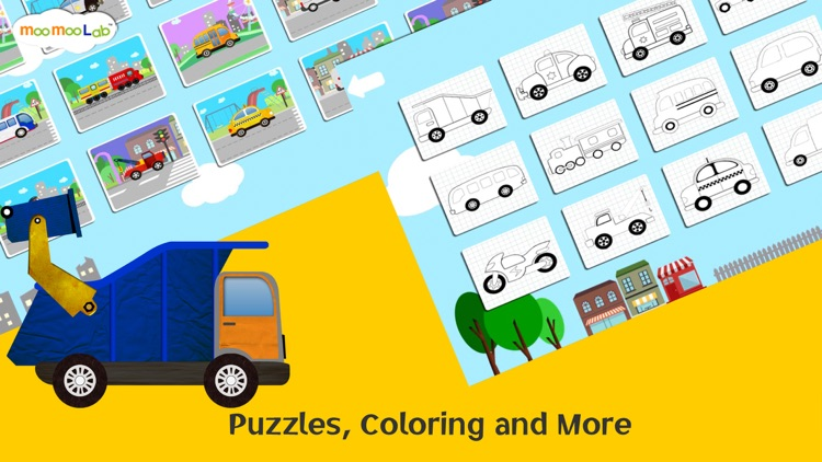 Car and Truck - Puzzles, Games, Coloring Activities for Kids and Toddlers Full Version by Moo Moo Lab screenshot-3