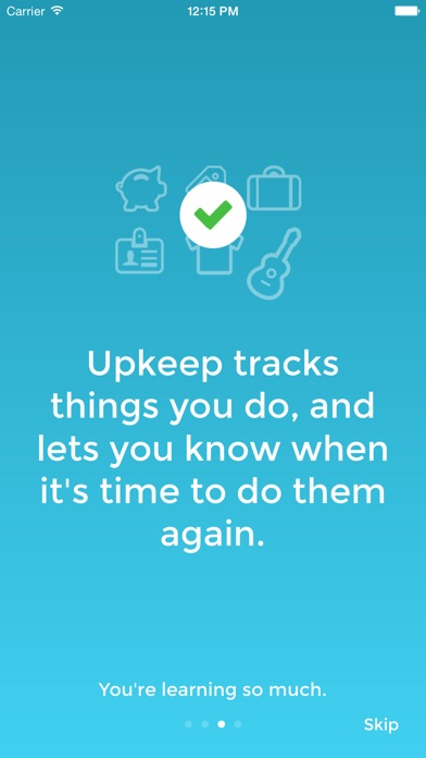 Upkeep Tasks