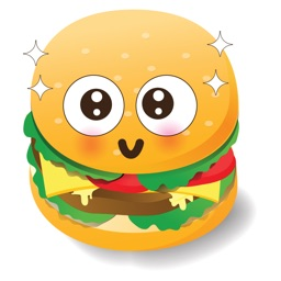 Cute Hamburger Emoticon Stickers