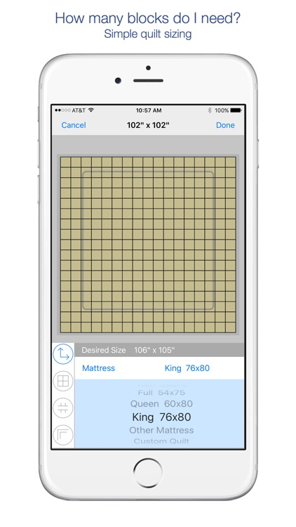 QuiltSize : Simple Quilt Sizing screenshot-0