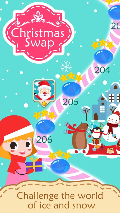 Christmas Swap 3 -Match toy & candy to countdown