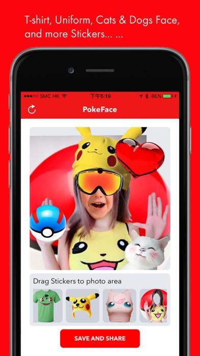 PokeFace for snapchat,facebook,instagram,whatsapp,pokemon go