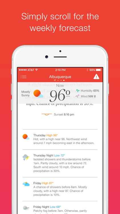 Weather Simple – Clear, concise forecasts screenshot-3