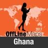 Ghana mapa offline y guía de viaje
