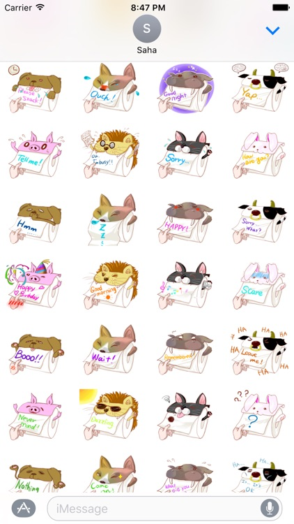 Animals Toilet Paper Stickers