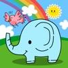 动物声音游戏(婴幼儿简笔画游戏)-小黄鸭亲子早教系列