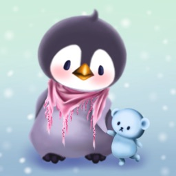 企鹅 Bo Winter Bird Stickers for Text Messages