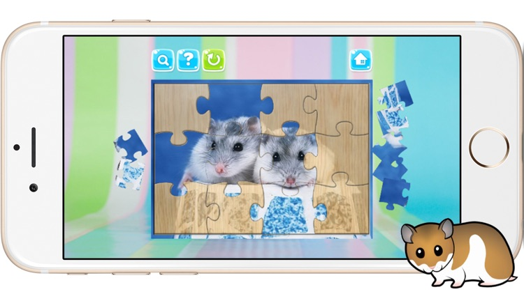 Hamster Jigsaw Puzzles Games for Kids and Toddlers screenshot-4