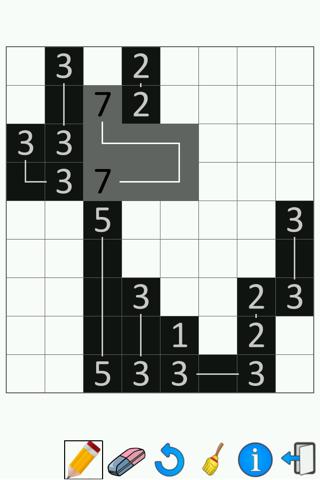 FCross Link-a-Pix Puzzles screenshot 1