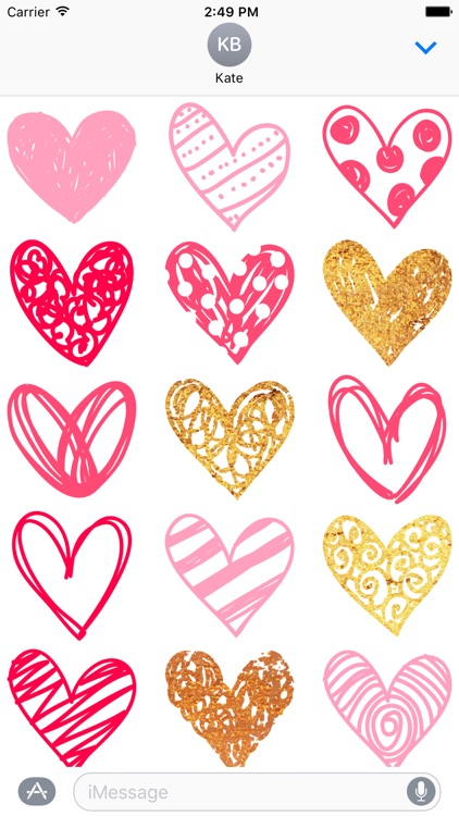 Heart Stickers for Messages