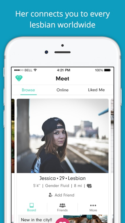 Her: Lesbian Dating, Chat & Meet, Bisexual LGBTQ app image