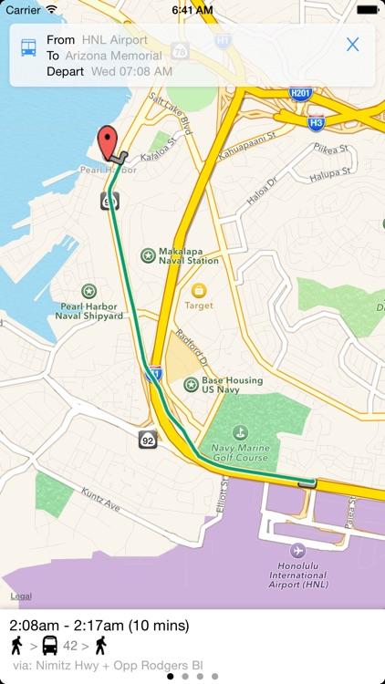 Transit Tracker - Oahu (TheBus) screenshot-3