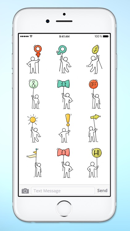 Stick Figure Emoji Icon Sticker Pack screenshot-4