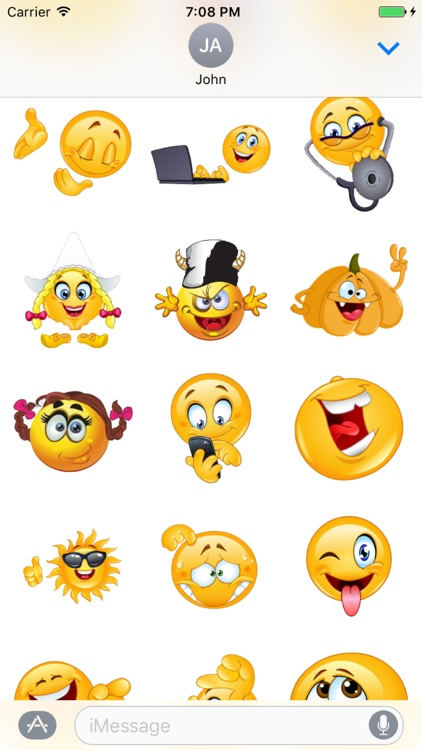 Emoticons Stickers For iMessage