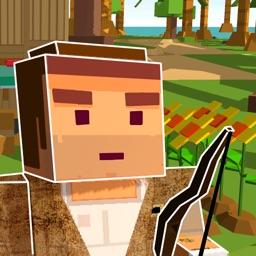Pixel Island Survival Simulator 3D