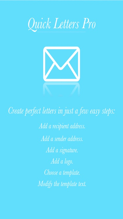 Quick Letters Pro - for Personal & Business Letters