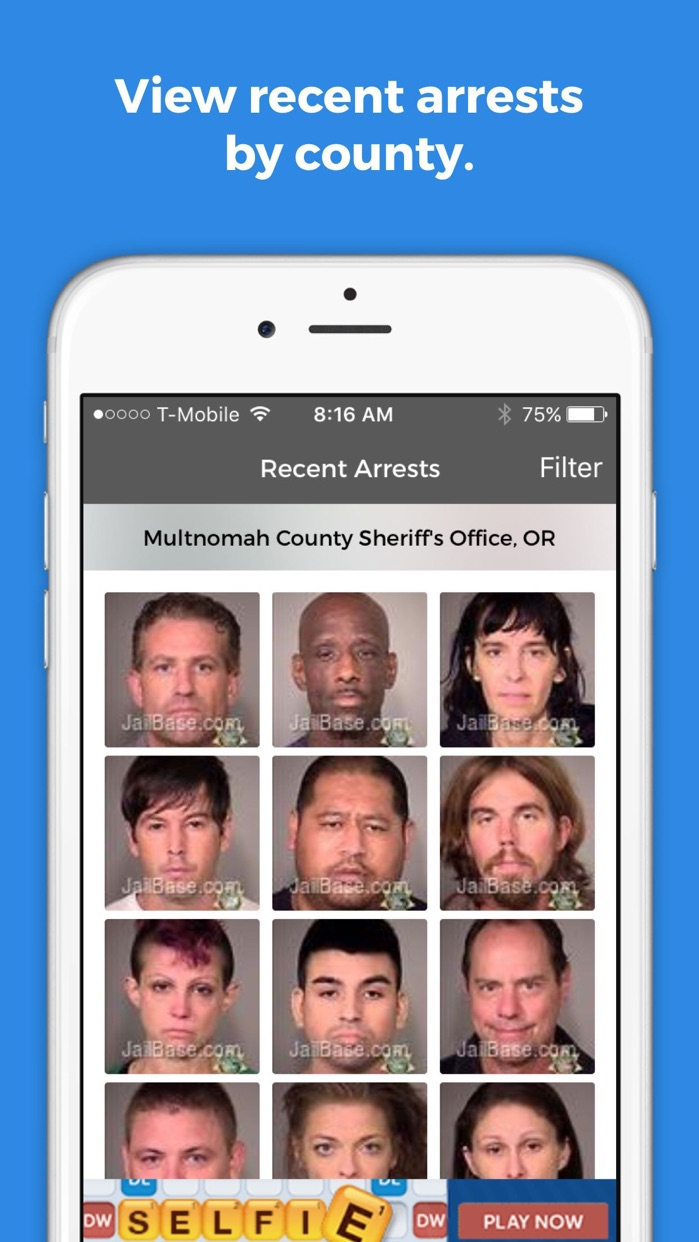 JailBase Arrests and Mugshots Screenshot