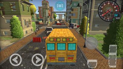 Pixel School Bus Free Style Driving screenshot 3