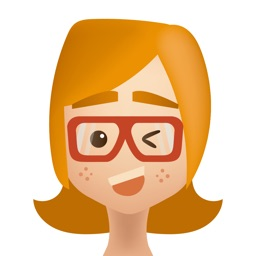 Redhead Girl with Glasses  - Sticker Pack