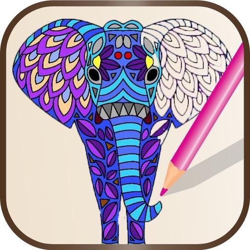 Animal Mandala Coloring Pages - Adult Color Book By Madhuri Barochiya