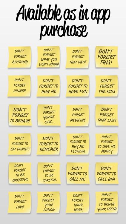 Post it Stickers Forget screenshot-3