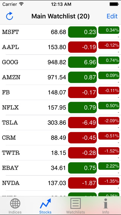 Real-Time Stocks screenshot-1