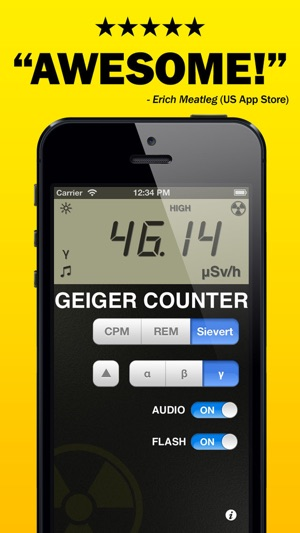 Digital Geiger Counter : Digital geiger counter prank radiation detector on the