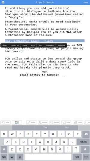 Screenplay writing app mac