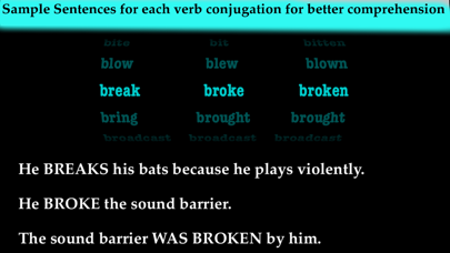 iRRegular Verbs English Only screenshot four