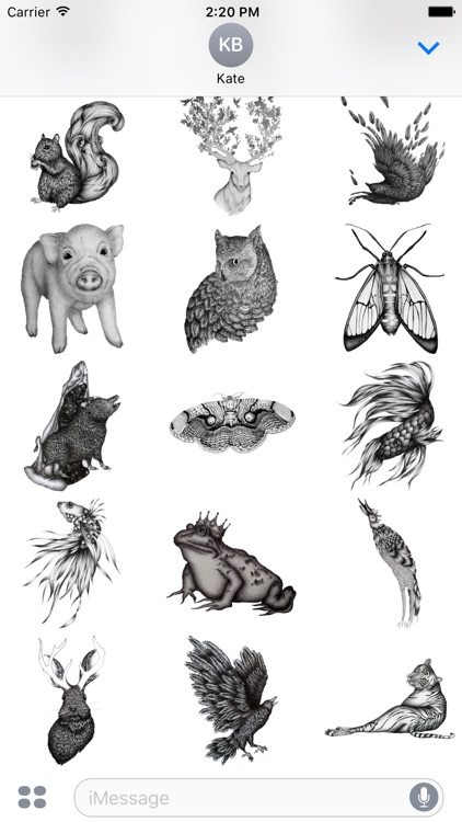 Ink Animals - Redbubble sticker pack
