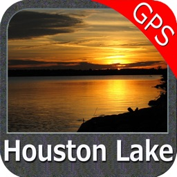 Lake Houston Texas GPS fishing map offline