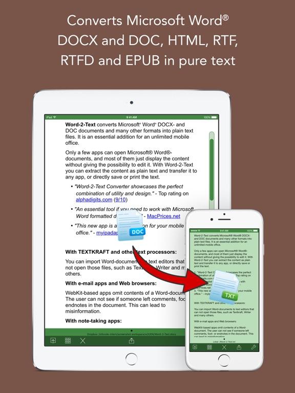Screenshot #1 for Word-2-Text Converter