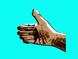 Hand gestures in awesome cell shading style