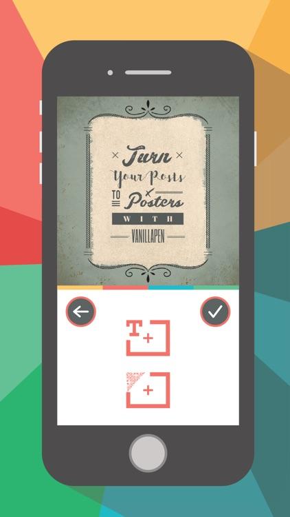 Vanillapen pro – Poster Maker screenshot-0