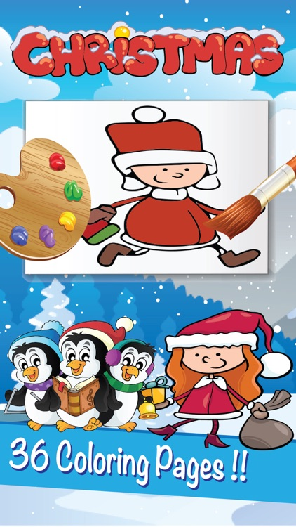 Christmas Coloring Page Book : Santa Claus Xmas for Kids
