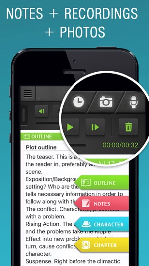 how to write an episode story on iphone