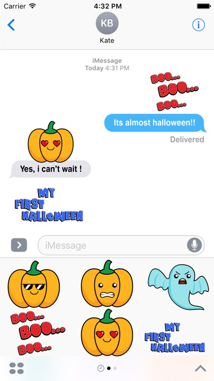 Spooky Halloween Stickers Pack for iMessage