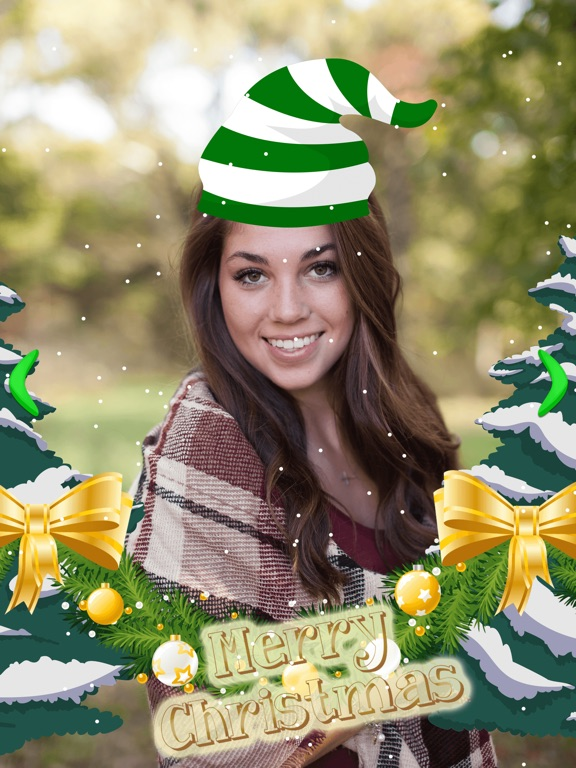 screenshot 1 for merry christmas photo stickers pic editor effects