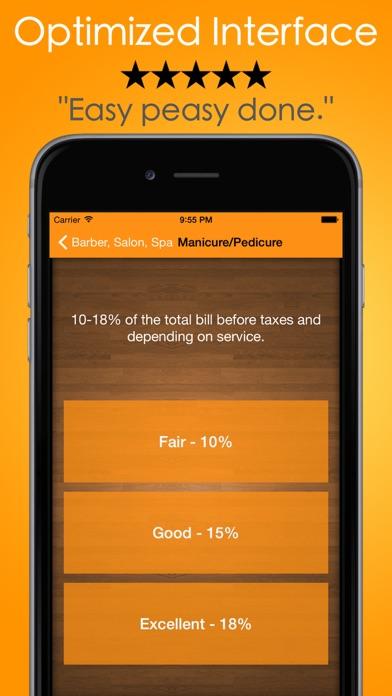 Tip Check Pro Tips Calculator review screenshots