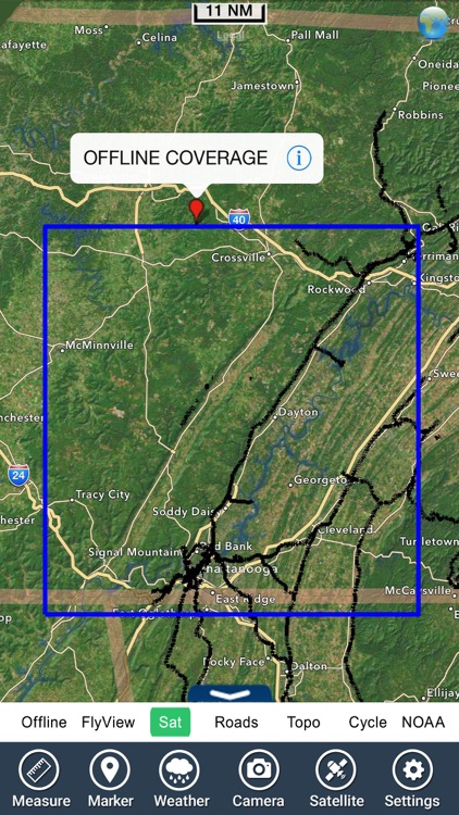 Chickamauga lake Tennessee GPS map fishing charts screenshot-4