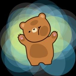 Fuzzy Brown Bear - Cute Animal Sticker Emojis